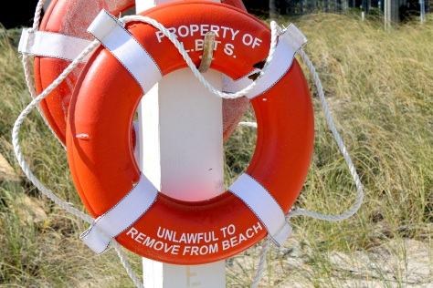 life ring flotation device beach safety