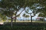 View of El Prado Park from the El Prado Parking Lot, just north of the town center.